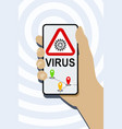 mobile phone virus detection app vector image