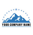mountain star vintage logo vector image vector image