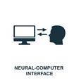 neural-computer interface icon premium style vector image