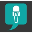 news microphone vector image vector image