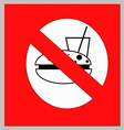 No food and drink sign on white background vector image vector image