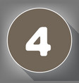 number 4 sign design template element vector image vector image