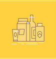 packaging branding marketing product bottle flat vector image