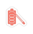 paper sticker on white background mobile battery vector image vector image