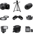 photo accessories gray vector image
