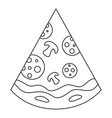 pizza icon outline style vector image vector image