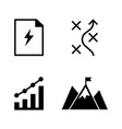 planning simple related icons vector image vector image