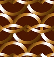 Seamless bold bronze rings geometrics pattern vector image vector image
