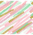 seamless pattern with brush strokes pastel vector image
