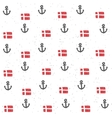 Seamless pattern with flags and anchors vector image vector image