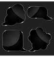 Set of realistic glass speech bubbles vector image vector image