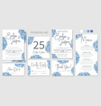 Set wedding invitations floral invitations
