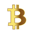 sign coins bitcoin isolated on white vector image