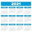 Simple 2021 year calendar vector image