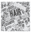 Simple Tips For Beautiful Hair text background vector image vector image