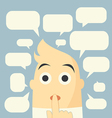 speech bubbles and man vector image vector image