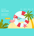 time to travel tropical country landing web page vector image vector image
