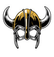 viking warrior helmet vector image