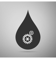 Water drop with gears Abstract concept for vector image vector image
