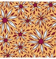 White Aster Seamless Pattern vector image