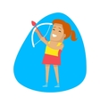Woman archery Sports Icon vector image