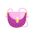 woman saddle bag vector image