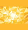 yellow polygonal background vector image vector image