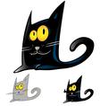 black cat cartoon vector image