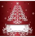 christmas tree graphic vector image