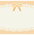 cute pastel ribbon and lace background or banner vector image