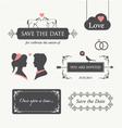 wedding invitation design element editable vector image