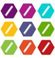 yardstick icon set color hexahedron