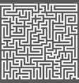 a square labyrinth maze game gray maze for your vector image vector image