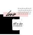 abstract creative love collage abstract vector image vector image
