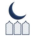 abstract moon ramadan kareem concept vector image