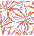 Abstract watercolor pattern with palms