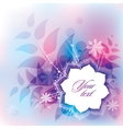 abstract with flower vector image vector image