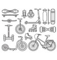 alternative city transport and gadgets vector image vector image