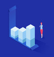 analyzing statistics isometric vector image vector image