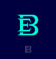 b and e classic monogram combined letters vector image