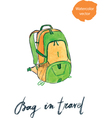 bag in travel vector image