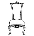 baroque luxury chair royal style decotations vector image vector image
