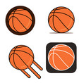 basketball on white background vector image vector image