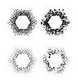 black color hexagon frames isolated on white vector image vector image
