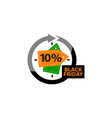 Black friday discount 10 percentage vector image