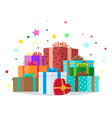 bunch of presents holiday collection vector image vector image