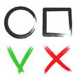 check mark tick icon shape brush box vector image vector image