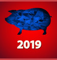 Christmas greeting card with pig and date new