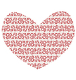 Christmas Knitted heart vector image vector image