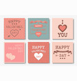collection beautiful happy valentines vector image